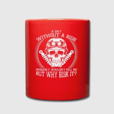 Biker skull - Full Colour Mug