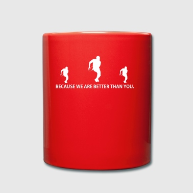 BETTER THAN YOU GIFT football running back league - Full Colour Mug