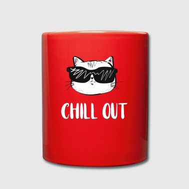 Chill out cat - Tasse einfarbig