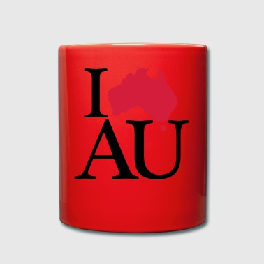 I love AU - I love Australia - Full Colour Mug