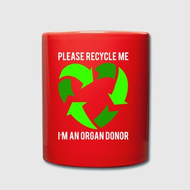 Please recycle me - Tasse einfarbig