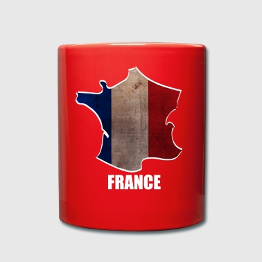 France - Frankrijk - World Map - Mok uni