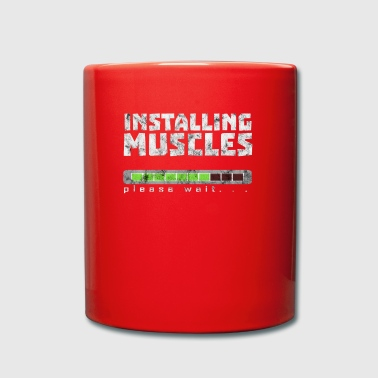 Install muscles fitness training gift idea - Full Colour Mug