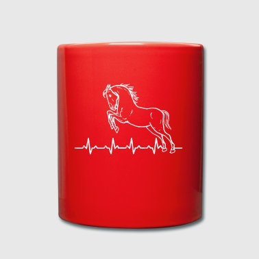 Heartbeats Horses Love T-shirt - Full Colour Mug