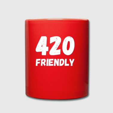 420 friendly - Abril 20 malezas de hierba de cannabis cáñamo - Taza de un color