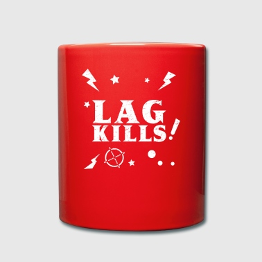 lag kills fps esports gaming gamer shooter nerd - Tasse einfarbig