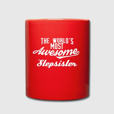 The world's most awesome stepsister - white - Full Colour Mug