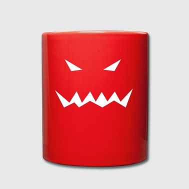 Pumpkin face scary halloween gift idea - Full Colour Mug