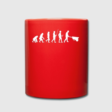 Evolution to the construction worker T-shirt gift - Full Colour Mug