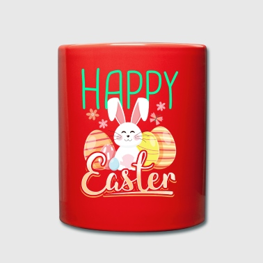 Happy easter gift easter bunny easter eggs cartoon - Full Colour Mug