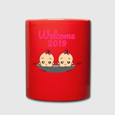 Welcome 2019 twins baby pregnancy - Full Colour Mug