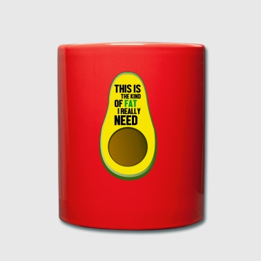 Heart-healthy fat avocado funny design - Full Colour Mug