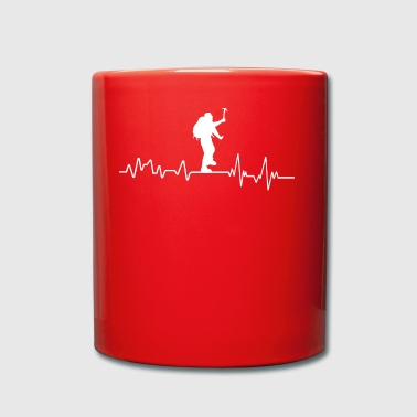 Heartbeat mountaineer t-shirt gift sport - Full Colour Mug