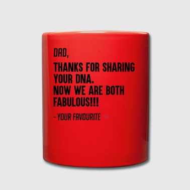 Funny Father's day gift form son and daughter - Tasse einfarbig