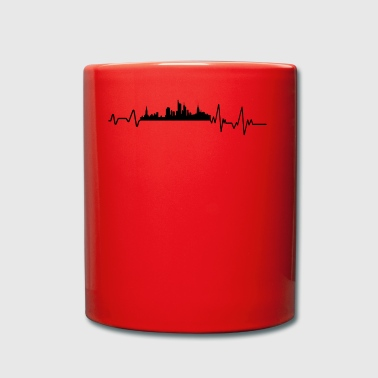 Heartbeat Frankfurt on Main T-Shirt Gift City - Full Colour Mug
