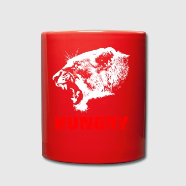 Lion - hungry - Full Colour Mug