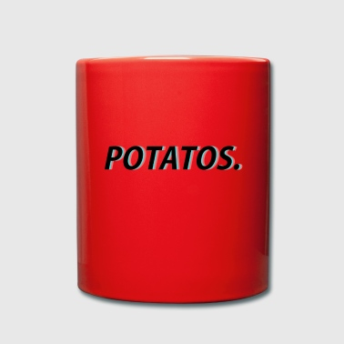 0019 potatos sort - Ensfarvet krus