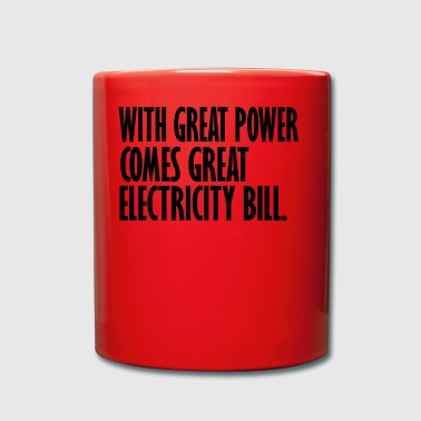 electricity bill - Full Colour Mug