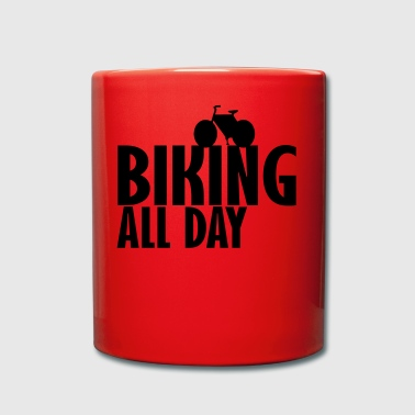 biking all day - Full Colour Mug