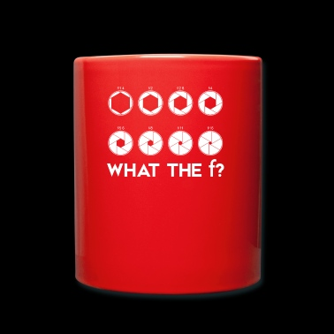 What the F Camera Lens Photography T-shirt - Tasse einfarbig