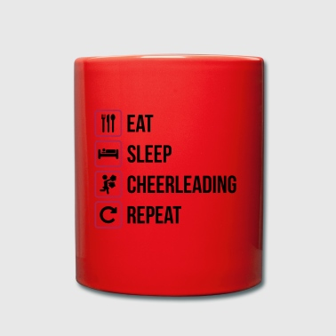 Eat Sleep Cheerleading Repeat - Tasse einfarbig