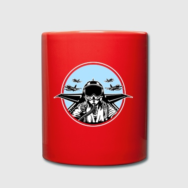 Jet Pilot / Kampfpilot 01_black white - Full Colour Mug