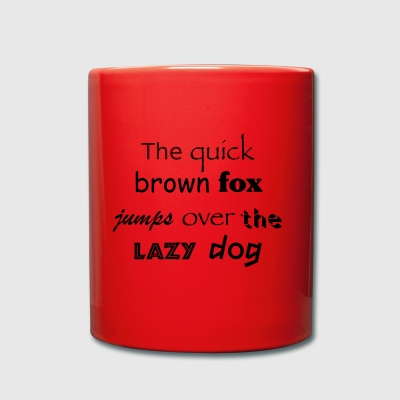 The quick brown fox jumps over the lazy dog t-shir - Full Colour Mug