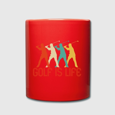 Retro Pop Art Golf is Life Gifts for golfer. SALE - Full Colour Mug