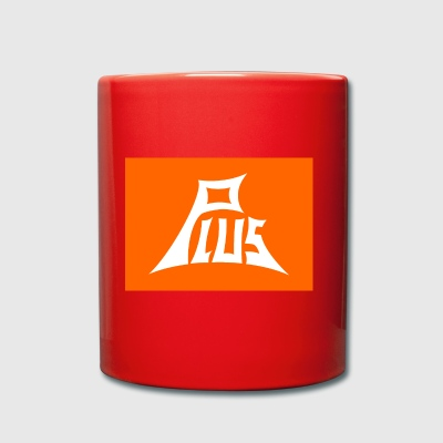 Plus orange white - Full Colour Mug