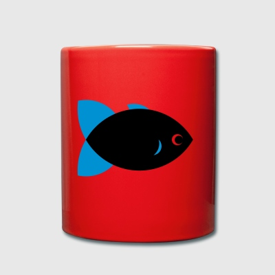 Fish - Black & Blue - Tasse einfarbig