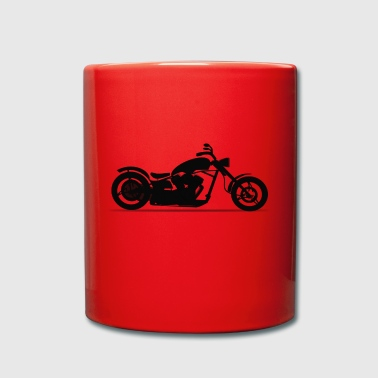 Motorcycle chopper silhouette - Full Colour Mug