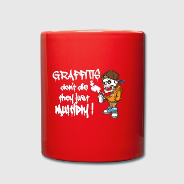 Graffitis Skeleton Hipster. Graffiti Art Slogan. - Full Colour Mug