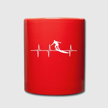 My heart beats for SURFING - GIFT - Full Colour Mug