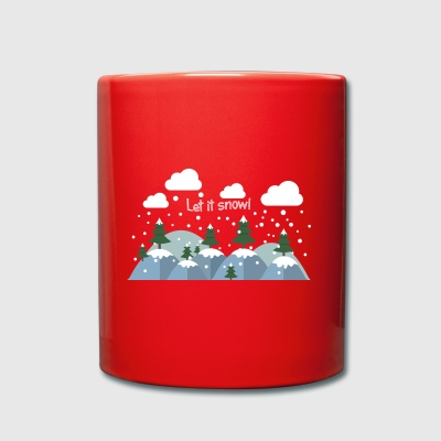 Let It Snow.Awesome Winter Gifts.Christmas.NewYear - Full Colour Mug