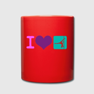 I love Pole Dance Pole Fitness Gift - Full Colour Mug