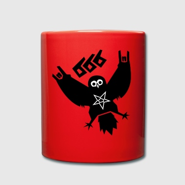 Black Metal Owl - Full Colour Mug