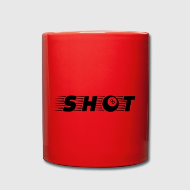 Shot Billard Eightball - Tasse einfarbig