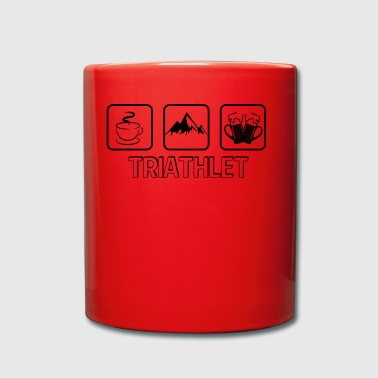 Triathlete mountain hiking - Full Colour Mug