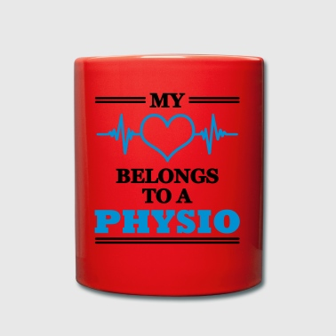 My heart belongs to a physio - Tasse einfarbig