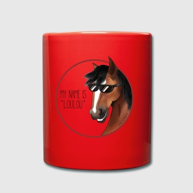 My name is LOULOU - Horse - Full Colour Mug
