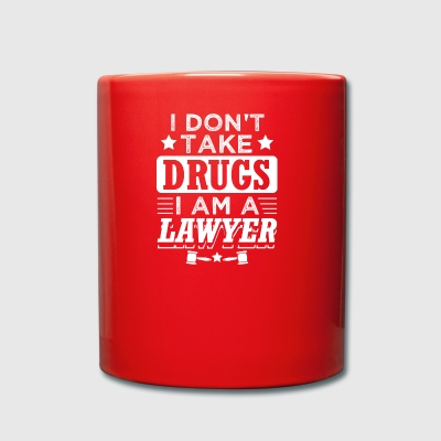 Funny Lawyer Attorney Shirt No Drugs - Full Colour Mug
