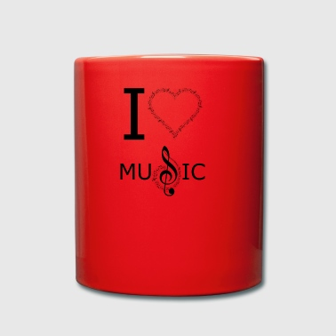 I Love Music Design - Ensfarvet krus