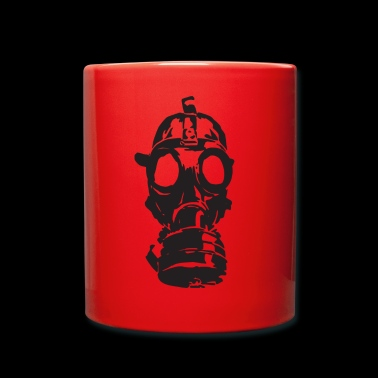 Gas Mask Toxic Gift Toxic Idea War Weapons - Full Colour Mug