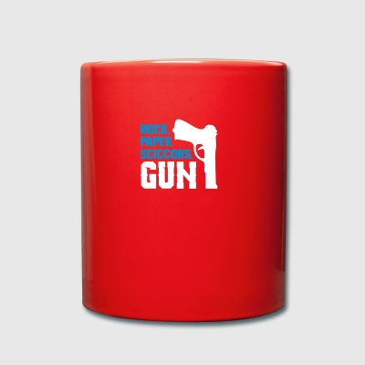 Funny rock paper scissors and gun - Full Colour Mug