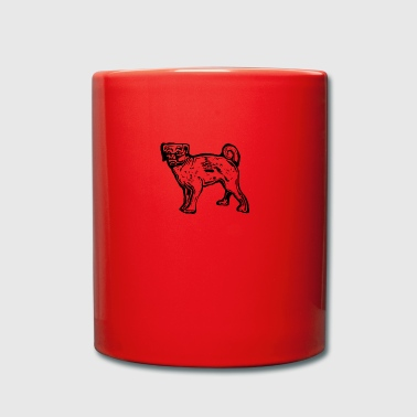 Pug Dog - Tasse en couleur