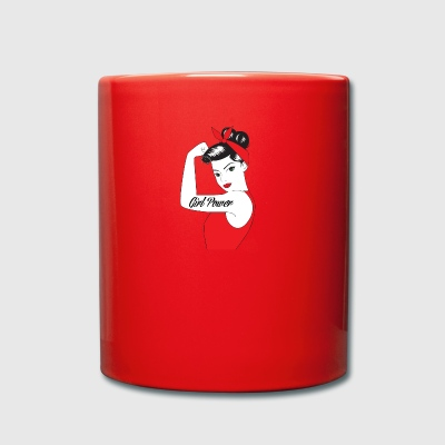 Pin-Up Girl / Rockabilly / 50s: Girl Power - Tasse einfarbig