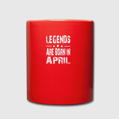 Legends are born in APRIL - Full Colour Mug