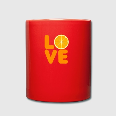 Fruit / Fruit: Amour orange - Tasse en couleur