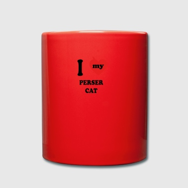 i love fat cats PERSER CAT - Tasse einfarbig