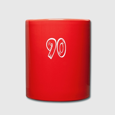 Number 90 Ninety Ninety wood optic HATRIK DESIGN - Full Colour Mug